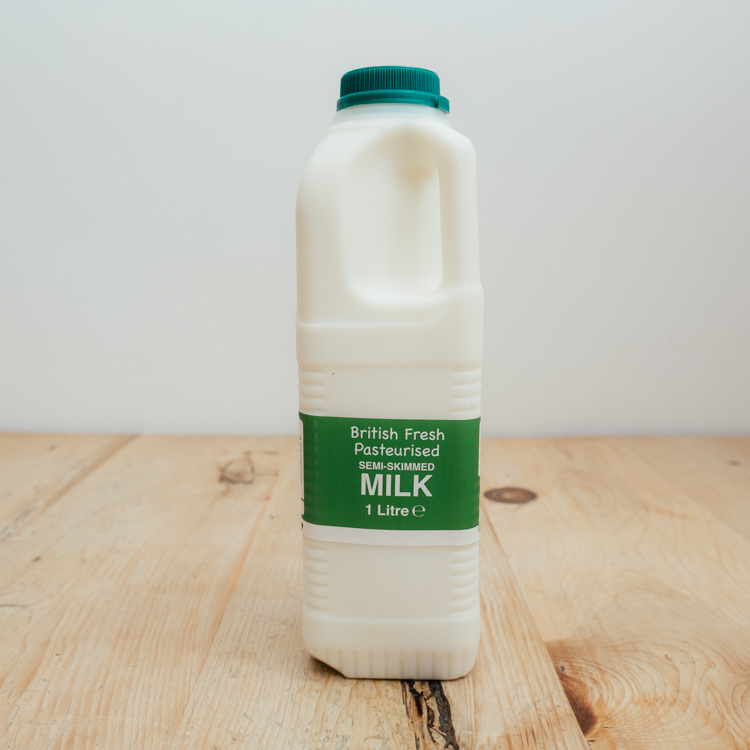 Hilltop Farm shop's product:1-litre-semi-skimmed-milk