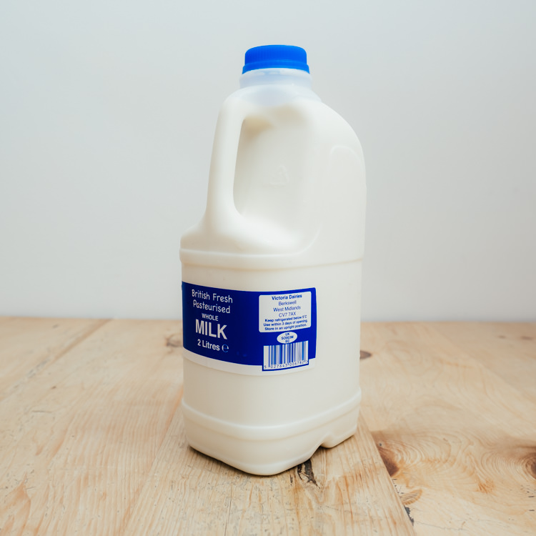 Hilltop Farm shop's product:2-litre-whole-milk