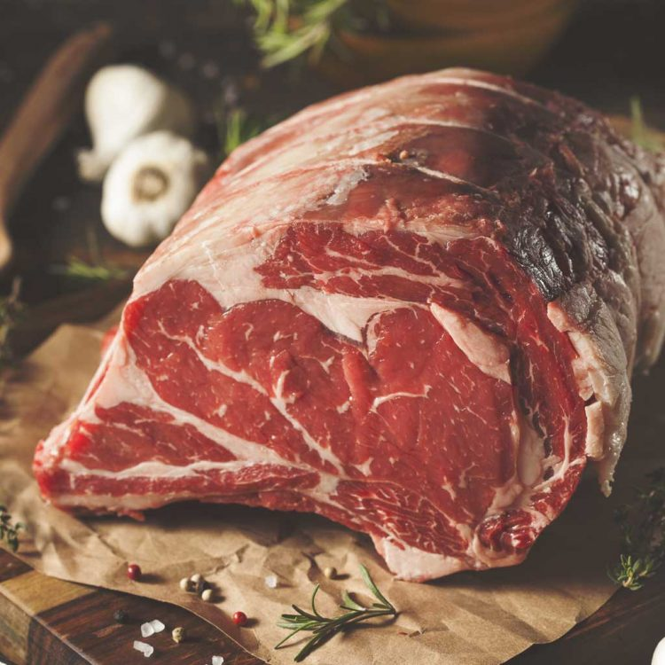 28-day aged beef rib joint