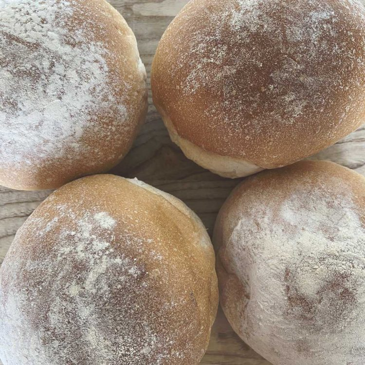 Freshly Baked Soft White Rolls