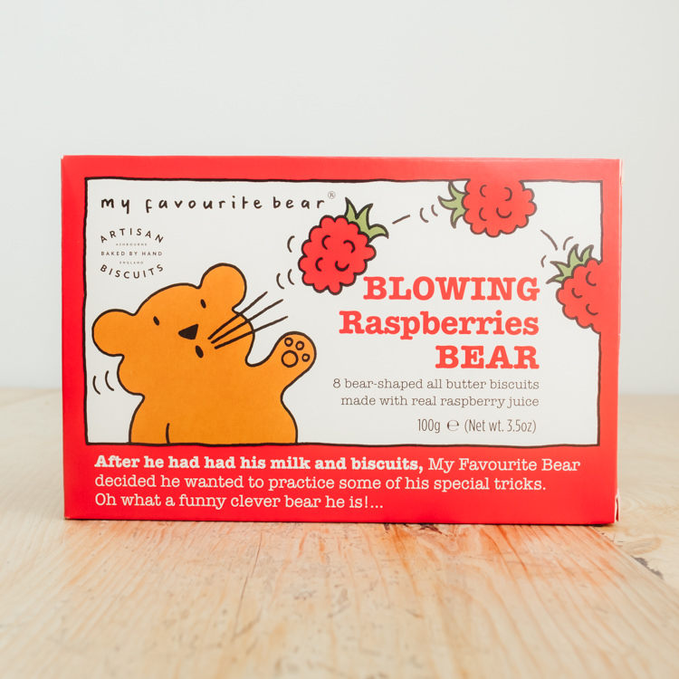 Hilltop Farm shop's product: Blowing Raspberries Bear all butter biscuits