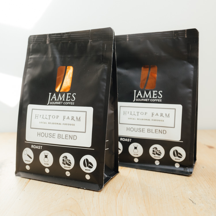 Hilltop Farm shop's product:Coffee ground range