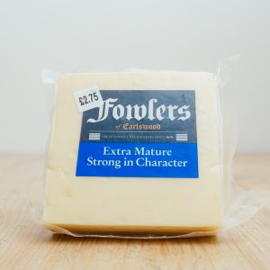 Hilltop Farm shop's product: Fowlers Extra Mature Cheddar Cheese