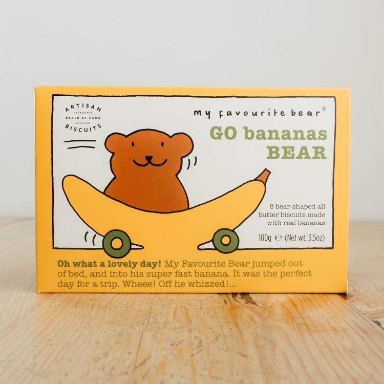 Hilltop Farm shop's product:Go Bananas Bear Biscuits
