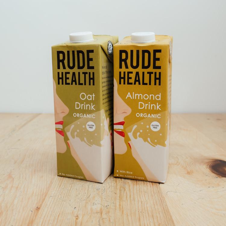 Hilltop Farm shop's Rude Health milk alternatives range