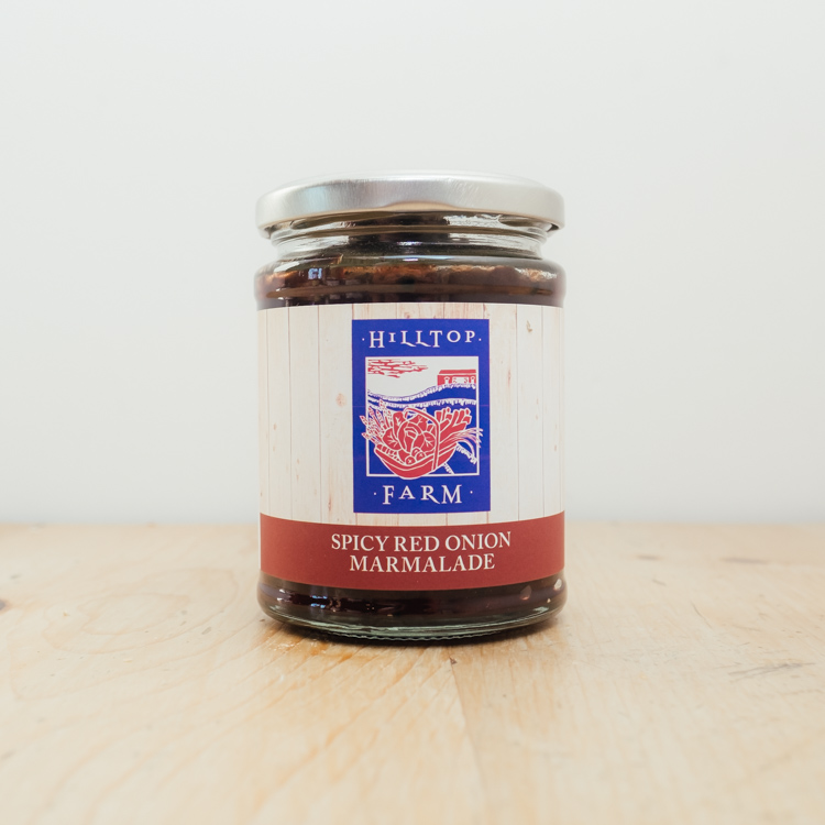 Hilltop Farm shop's product: Spicy red onion marmalade