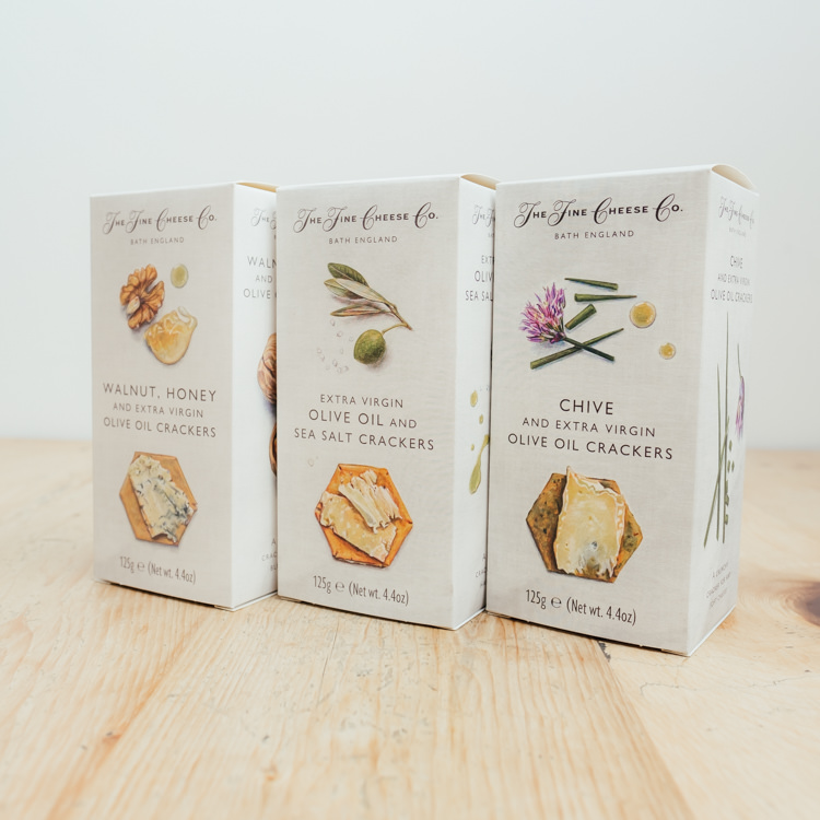 Hilltop Farm shop's product: The-Fine-Cheese-Co.-Crackers-range