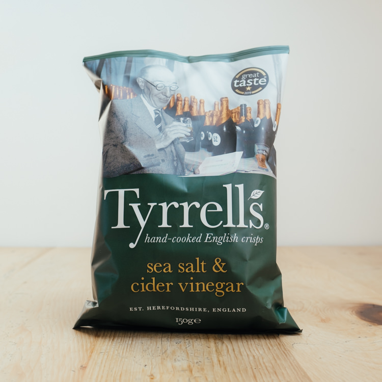 Hilltop Farm shop's product:Tyrrells Sea Salt & Cider Vinegar