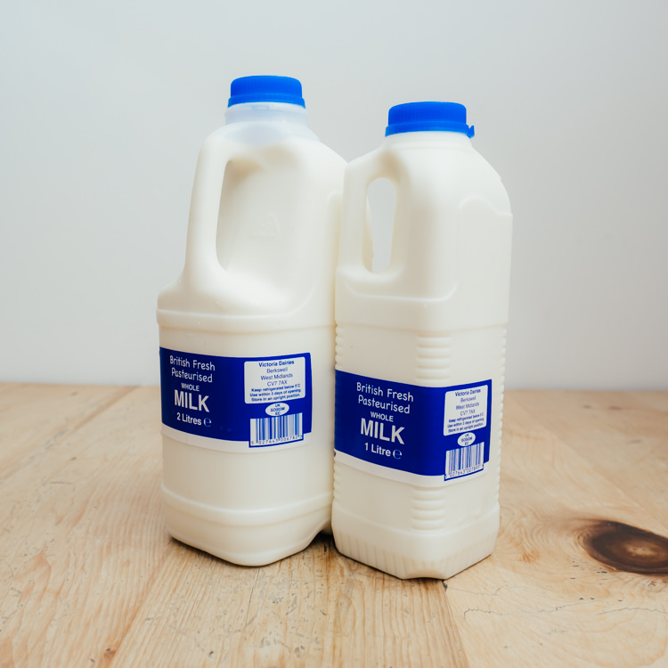 Hilltop Farm shop's product:Whole milk range