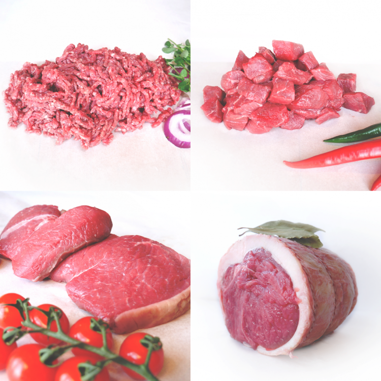 Grass Fed Beef Meat Box for Two People