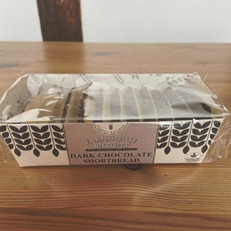 Farmhouse Biscuits Dark Chocolate Shortbread