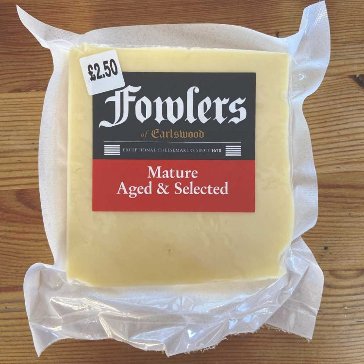 Fowlers Mature Cheddar Cheese