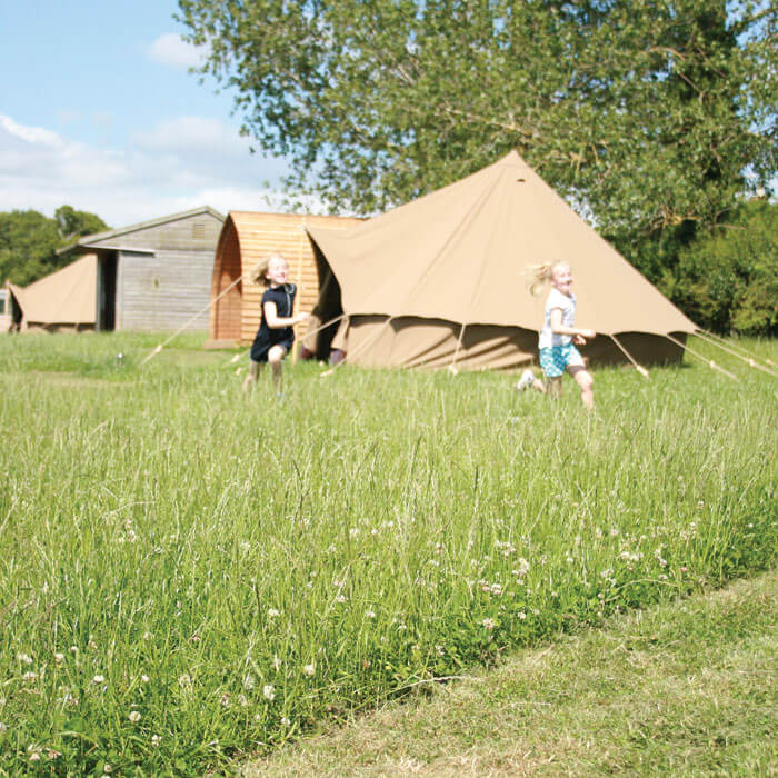 Glamping Bell Tents - Hilltop Farm
