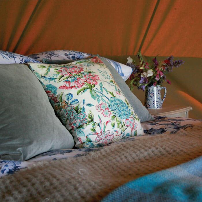 Glamping Bell Tent Interior Hilltop farm