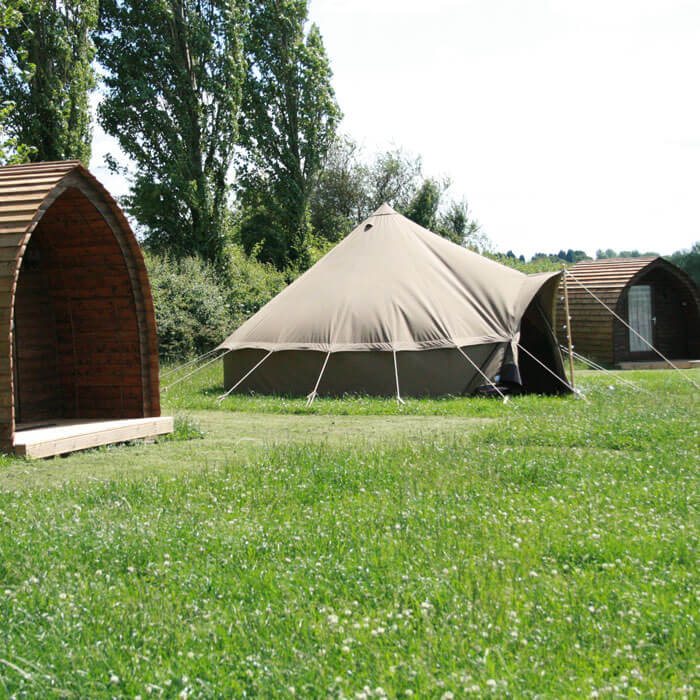 Glamping Bell Tents & Cabins - Hilltop Farm