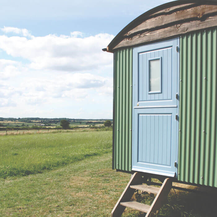 Shepherds Hut View - Hilltop Hideaways