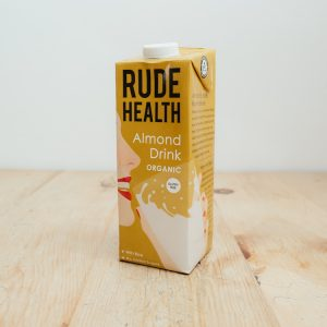 Hilltop Farm shop's Rude Health Almond drink (milk alternative)