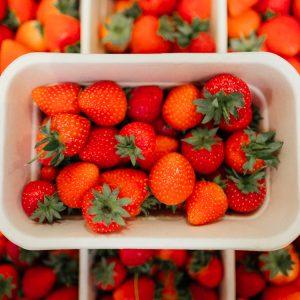 Punnet of fresh Strawberries