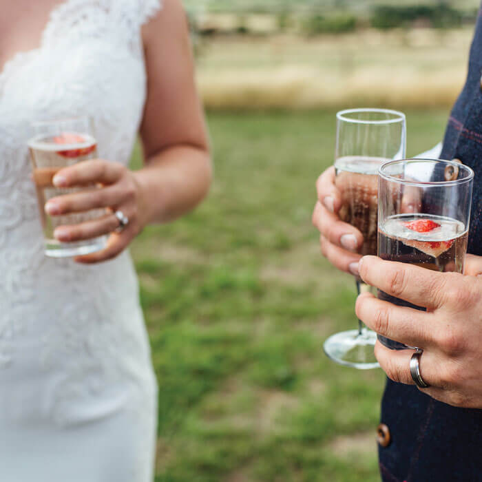 Bride & Groom Drinks - Hilltop Farm