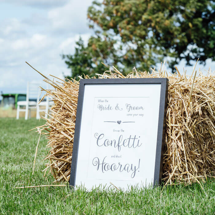 Rustic Wedding Sign - Hilltop Farm