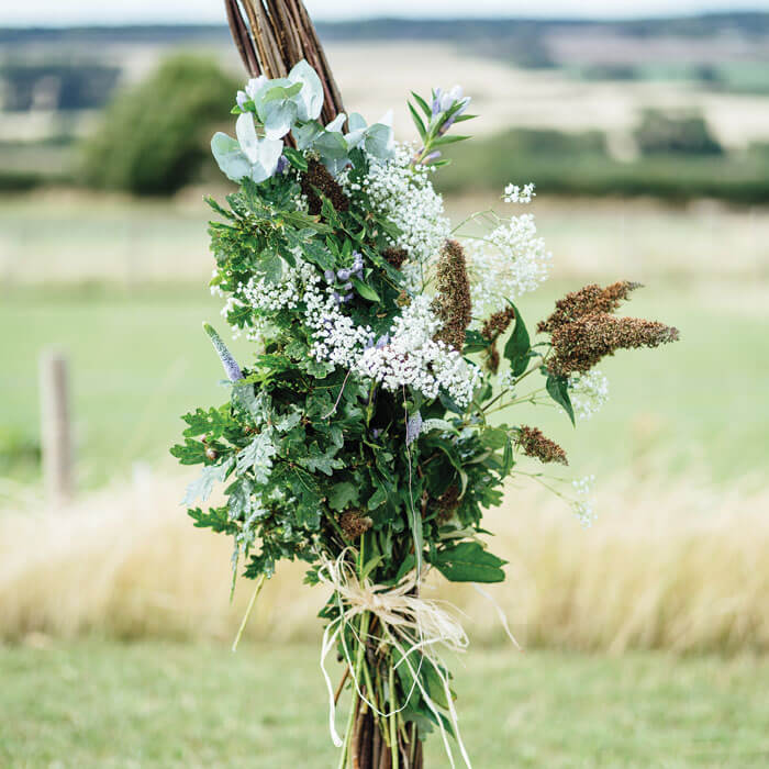 Rustic Wedding Flowers - Hilltop Farm